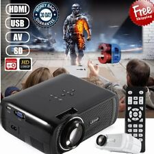 Full HD 1080P 3D Mini Projector LED Multimedia Home Theater USB HDMI 1200 Lumens