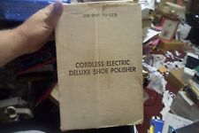 Cordless Electric Deluxe Shoe Polisher