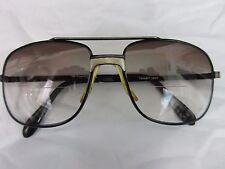 8af39fb7c2 Vintage Rx Tinted Sun Glasses Black Metal Aviator Square Frame Made In  Taiwan