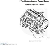 BEST CUMMINS ISB QSB5.9-44 3666193 DIESEL ENGINE  Shop Service Repair Manual CD