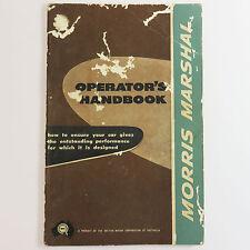 Vintage Morris Marshal Operators M9500 Handbook Owners Manual, 1957