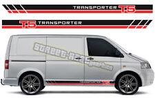 VW Volkswagen Transporter 010 T4 T5 T6 de Gráficos Pegatinas Rayas van Racing