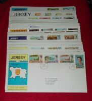JERSEY STAMP COVERS FIRST DAY & LAST DAY (HINGED)  - SELECT COVERS