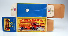 "Matchbox RW 70B Grit Spreader leere originale ""E2"" Box"