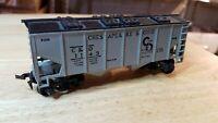 G6 HO Scale TRAIN C&O CHESAPEAKE AND OHIO COvered Hopper Grey Black Horn Hook