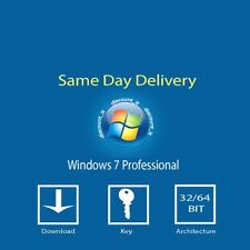 Genuine Windows 7 Professional 32/64 Bit COA Product Key & installation Software