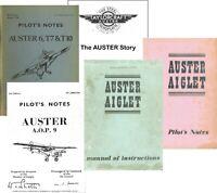 AUSTER PILOTS NOTES - 5, 6, 7T, T10, AOP 9 PLUS AIGLET 5 MAINTENANCE MANUAL