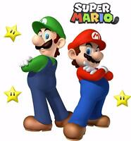 SUPER MARIO and LUIGI Bros Decal Removable WALL STICKER Home Decor Art Giant