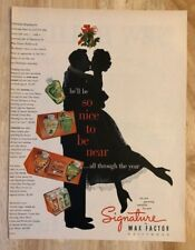 Original Print Ad 1951 Signature by MAX FACTOR Perfume So Nice to be Near