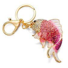 Mujer Llavero Colgante Cristal  pescado cadena monedero KeyChain