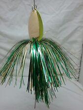 Double Blade Bucktail  Musky Pike Bass Spinner Lure Perch Flashabou Skirt