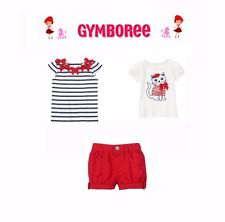 """Gymboree Baby Girls """"Parisian Afternoon"""" Collection 3 Piece Set New 6-12 Months"""