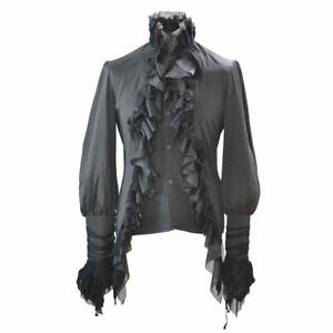 Schwarzes Gothic Rüschenhemd Black Shirt von RQ-BL