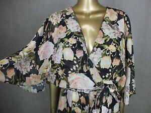 SHEIKE PANTSUIT JUMPSUIT : FLORA L PANTS DRESS Y  : FLORAL DESIGN : SIZE 10