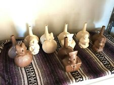Peruvian Double Chambered Whistling Jar - Set of 7