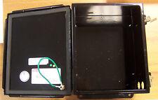 "Hoffman Black A1008CH, 10"" X 8"" X 4"" Junction Box, Nema 12 Hinged Cover Used"