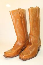 Frye Vintage USA Made Mens 9.5 D Tall Brown Leather Cowboy Western Boots jb