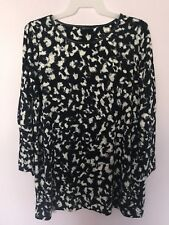 Marks & Spencer Womens Top Plus Size 20 Light Knit Sweater Tunic Blouse Navy New