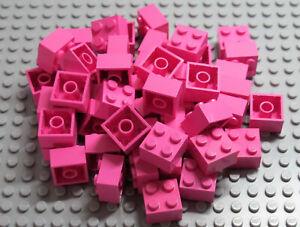 LEGO Bricks  2x2 x 50 pcs - Dark Pink - Used