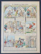 Planche n°378 Imagerie Pellerin Epinal La légende de Saint-Labre
