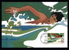Schwimmen. Olymp.Sommerspiele 1984, Los Angeles. Maximumkarte. USA 1983