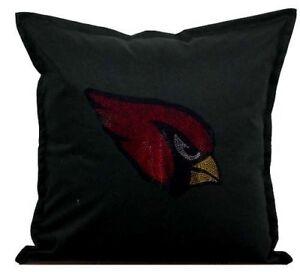 "Arizona Cardinals Cover Sofa Throw Pillow Case 18""X18"" Chair Couch Rhinestone"