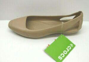Crocs Size 10 Gold Flats New Womens Shoes