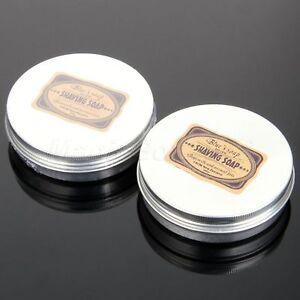 Men's Shaving Soap Goat's Milk 83mm Round Shave Tool Travel Barber Salon Hotel