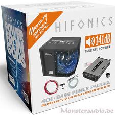 Hifonics MBP-1000.4 1000 Watt Auto Basspack Anlage Car Hifi Bass Komplett Set
