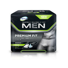 TENA Men Premium Fit Level 4 Protective Underwear (Medium) - 1 Pack of 10