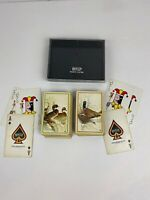 Vintage Hoyle Plastic Coated Playing Cards Ducks Pheasants in plastic case