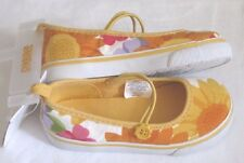Gymboree Sunflower Smiles Size 7 Sneaker Flats Shoes Canvas Flower Girl NEW