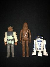 Vintage Star Wars Action Figure Lot 1977 Chewbacca 1983 Nikto R2 D2 Lot Of 3