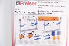 Ho Preiser 17186 Auto Repair Shop / Car Garage Equipment & Tools Detail Kit