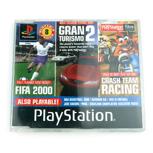 Official PlayStation Magazine PS1 OPM 53 Demo Disc - Crash Team Racing, Fifa 2K