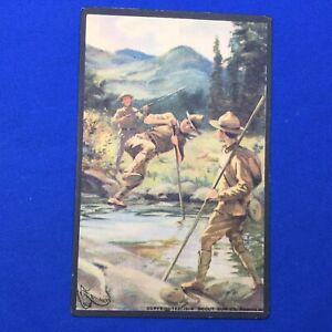 Boy Scout Vintage Scout Gum Co. Post Card Vaulting A Stream C1914
