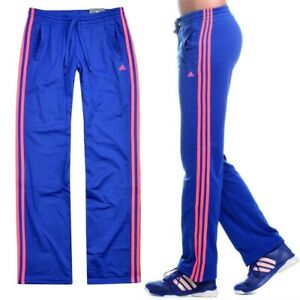 Adidas Women's Training Pants Sports Jogging Firebird Women Neon-Red Blue