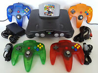 N64 Nintendo 64 Console w/ New Controllers + Mario Kart + Hookups - Fast Ship!
