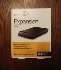 Seagate Expansion 640 GB USB 2.0 Portable Drive ST906404EXA101-RK - NEW, SEALED
