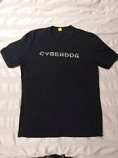 Cyberdog London black t shirt top with reflective print. Size M, fits like small