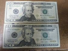 "$20 (TWENTY DOLLAR) 2009 2013 STAR ERROR NOTE BILL LOWER SERIAL NUMBER – "" * """