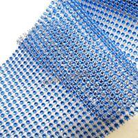 Diamante Diamond Effect Ribbon Trim - Royal Blue 1m Lengths - Cake,Bridal,Craft