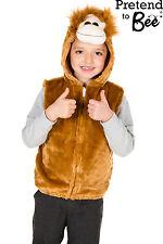 KIDS ORANGUTAN APE MONKEY JUNGLE BOOK DAY ANIMAL FANCY DRESS COSTUME  AGE 3-5-7