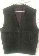 Hunting Vest Shooting Vest Made of Nubuck Leather  With Bullet Tubes