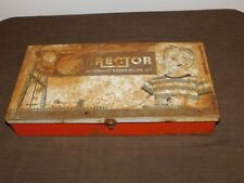 VINTAGE TOY GILBERT ERECTOR AUTOMATIC RADAR SCOPE SET in METAL BOX MISSING PARTS