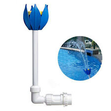 Pool Central Adjustable Blue White Yellow Flower Fountain for Pool Spa.
