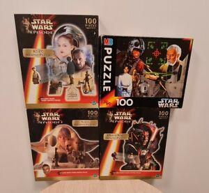 4x Vintage Star Wars 1990s Jigsaws 100 Pieces, 3x Sealed.