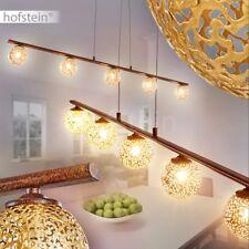 Retro Rost Goldfarbene Pendel Leuchten Hänge Beleuchtung Ess Tisch Wohn Zimmer