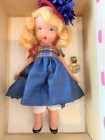 NASB Nancy Ann Storybook Bisque Doll 109 Little Betty Blue Orig Wrist Tag, Box