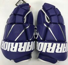 "New Warrior Burn Fatboy box lacrosse goalie gloves 13"" Purple Lax indoor goal"
